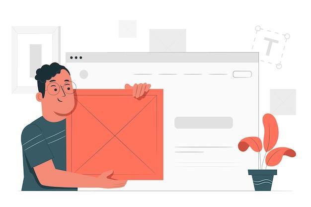 Inserire l'illustrazione del concetto di blocco Vettore gratuito