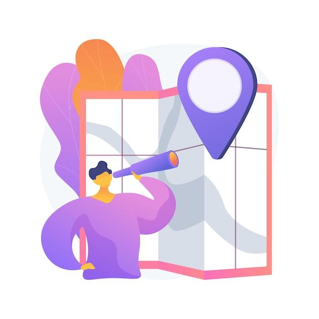 Иллюстрация абстрактной концепции путешествия внутри страны Бесплатные векторы