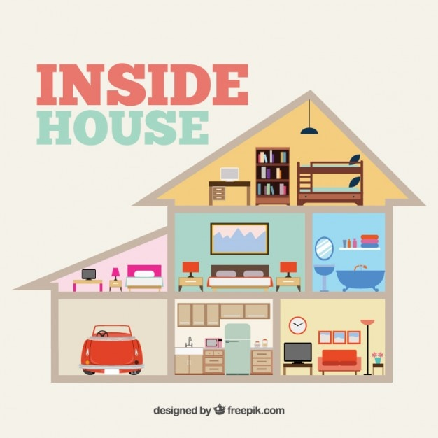 Inside House Free Vector