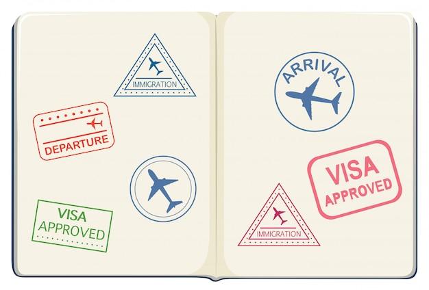 Inside of a passport Free Vector