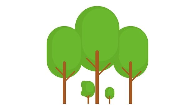 木insolatedベクトル図 Premiumベクター