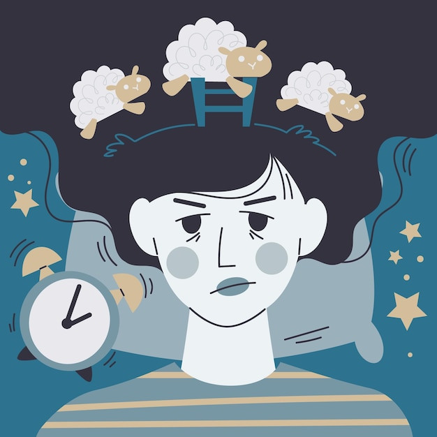 Insomnia concept illustration Free Vector