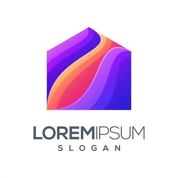 Inspiration gradient color logo design Premium Vector