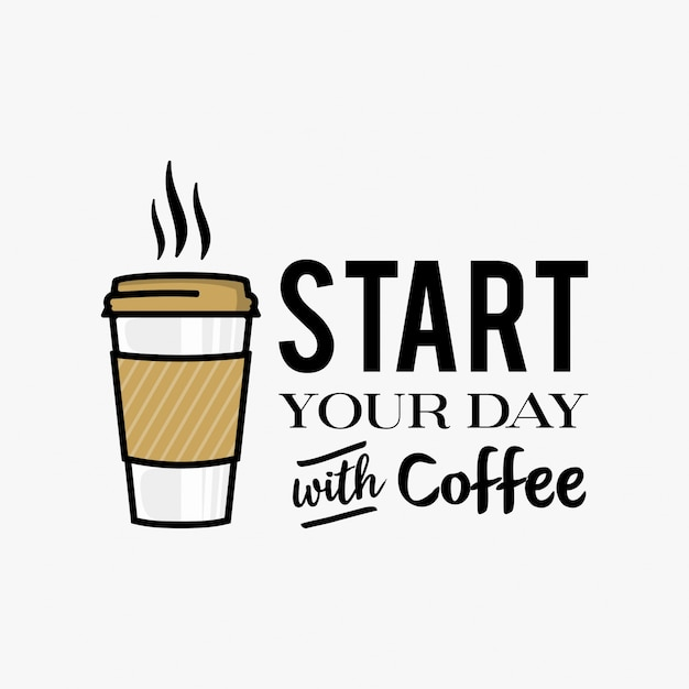 Inspirational coffee words vector illustration | Premium ...