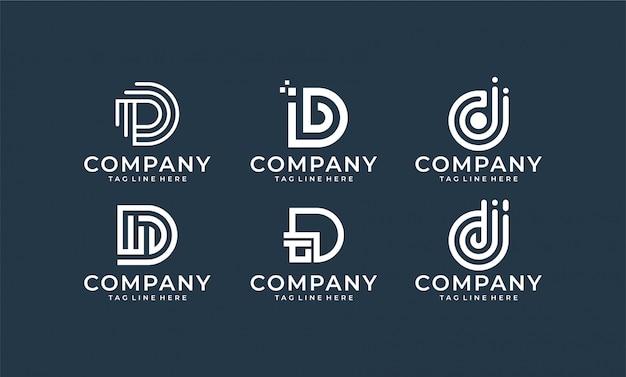 Inspirational letter d monogram logo design Premium Vector