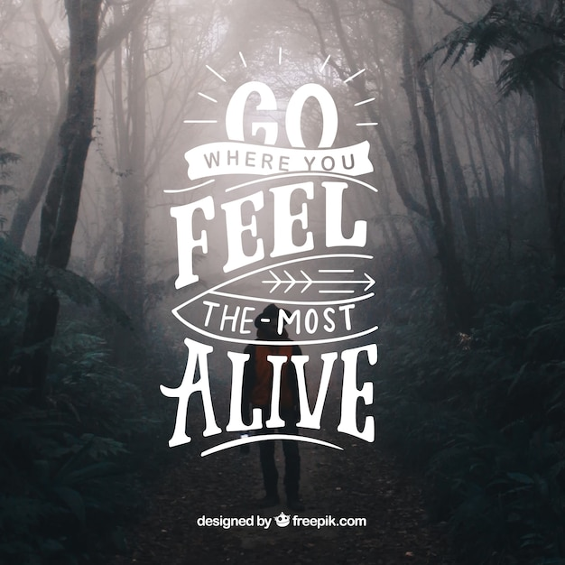 Inspirational lettering background Free Vector