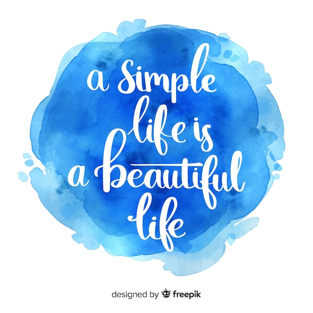 Inspirational quotation on blue ink watercolor Free Vector