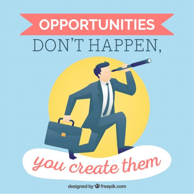 Inspirational quote about the opportunities Free Vector