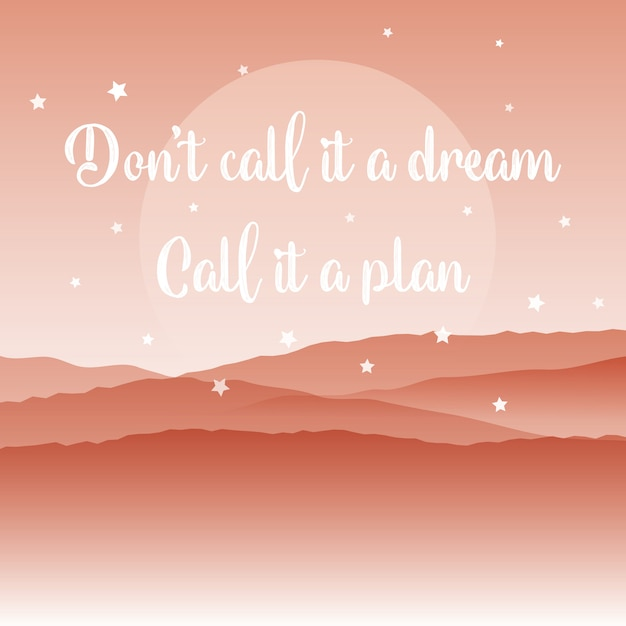 Inspirational quote background Free Vector