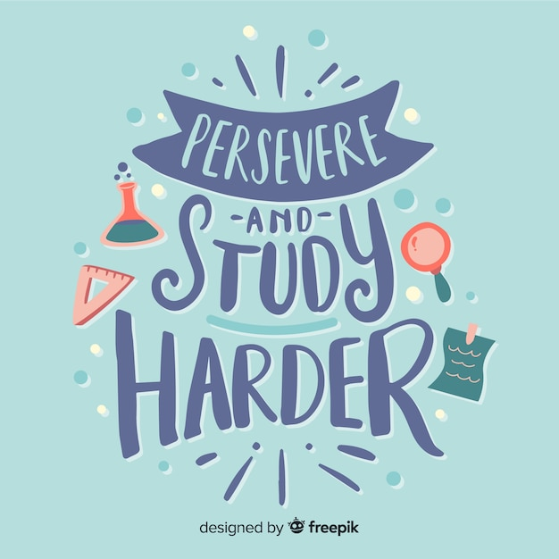 Inspirational quote with hand drawn lettering Free Vector
