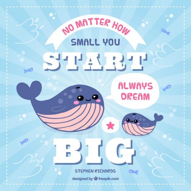 نقل قول های الهام بخش با نهنگ دوست داشتنی