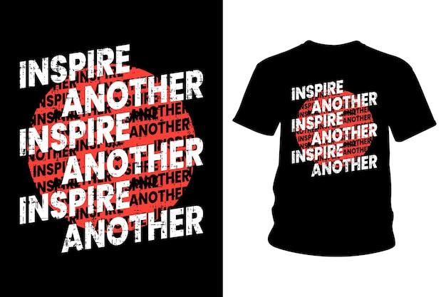 또 다른 슬로건 티셔츠 타이포그래피 디자인 영감 프리미엄 벡터