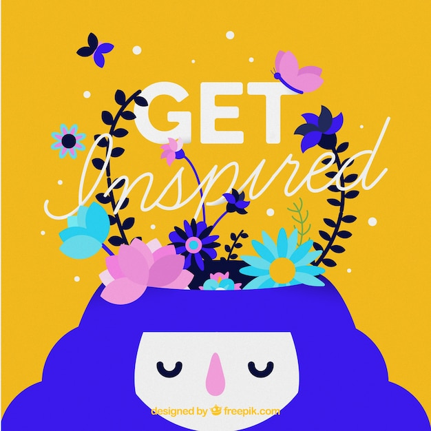 Inspiring Quote With Colorful Illustration Vector Free Download