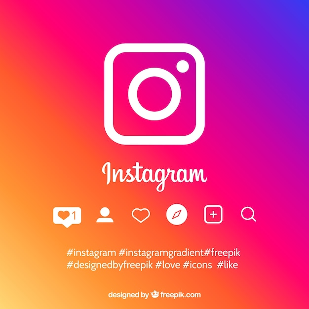 グラデーションカラーのinstagram背景 無料ベクター