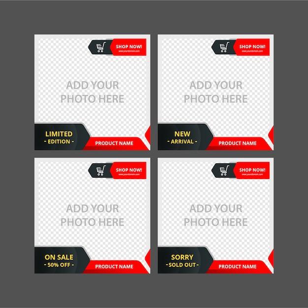 Instagram Banner Template Vector Premium Download