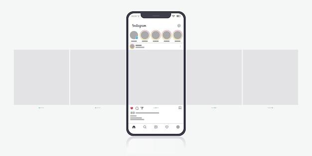 Instagram 캐 러셀 인터페이스 무료 벡터