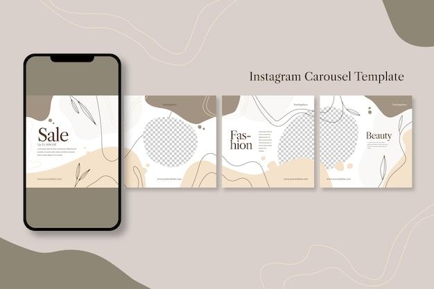 Instagram 캐 러셀 템플릿 프리미엄 벡터