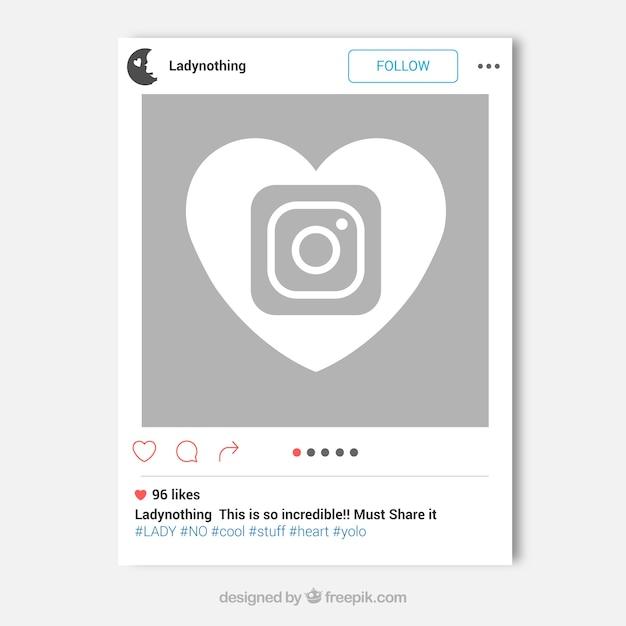 Instagram frame concept Vector | Free Download