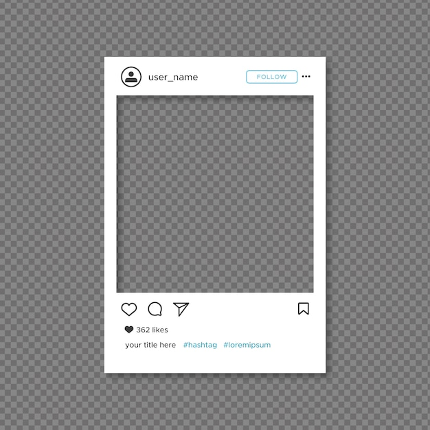 Instagram frame template Free Vector
