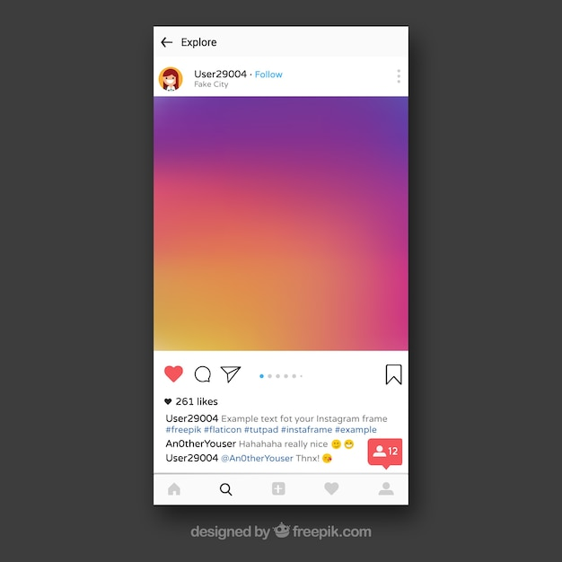 Instagram Frame Template Vector Free Download