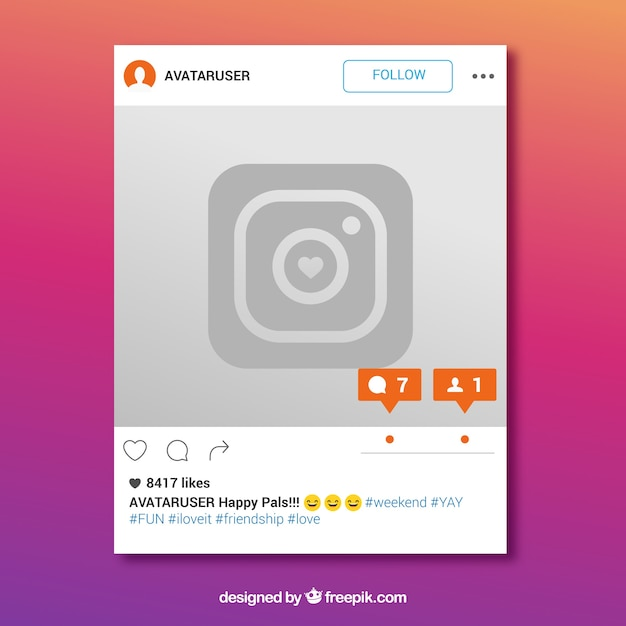 Instagram frame with new message