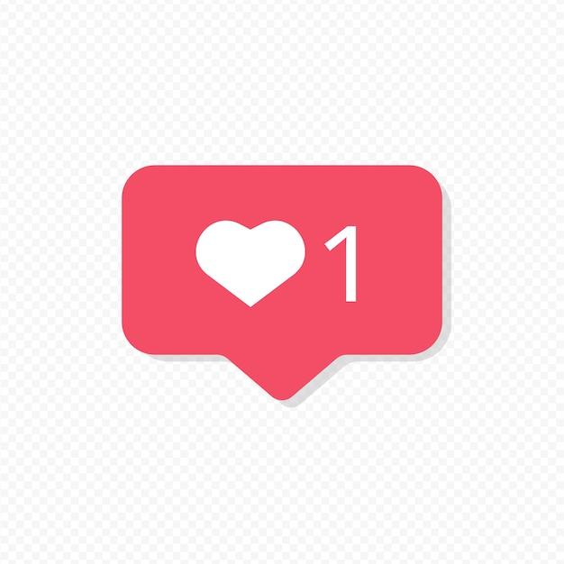 Instagram like notification Free Vector