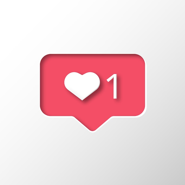 Instagram like notification Free Vector