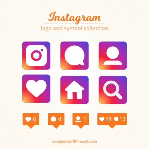 Instagram Logo And Symbol Collection Vector