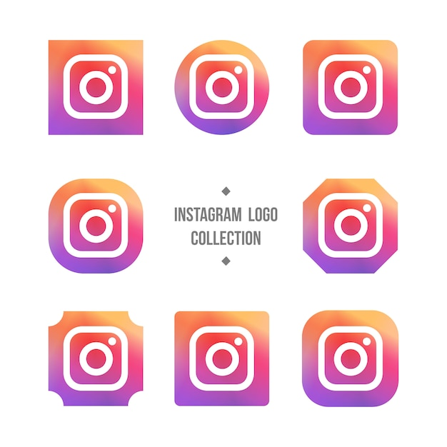 Instagram logo collection Free Vector