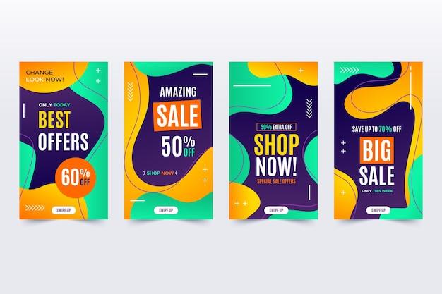 Instagram mega sales liquid effect Free Vector
