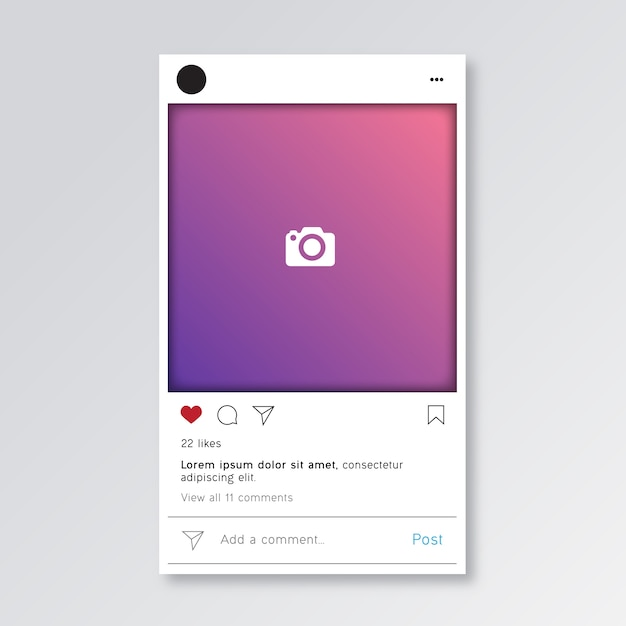 instagram post template premium vector
