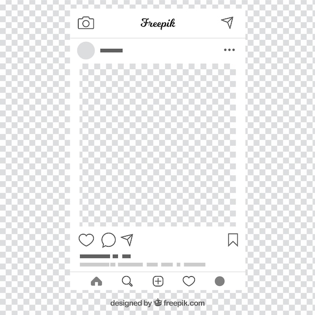 Free Vector Instagram Post With Transparent Background