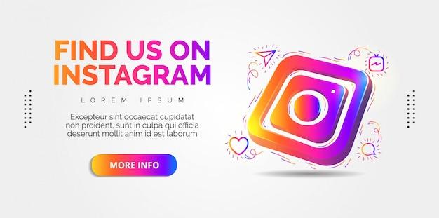 Instagram social media with colorful designs. Premium Vector