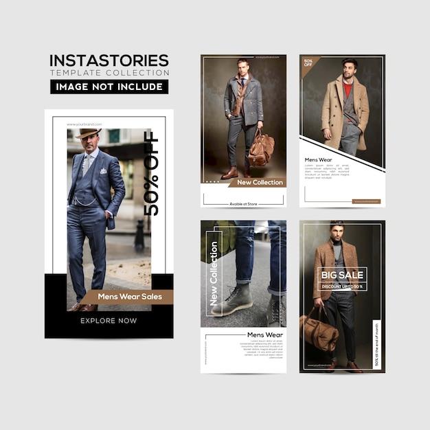 Instagram stories template frame Premium Vector
