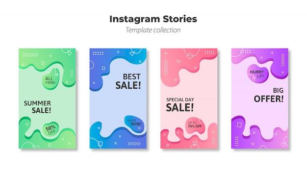 Instagram stories template vector Free Vector