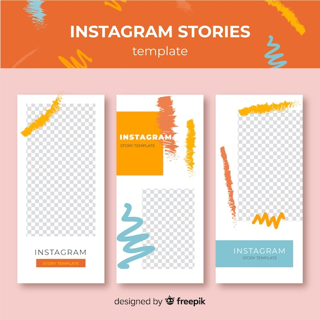 Instagram stories template Free Vector
