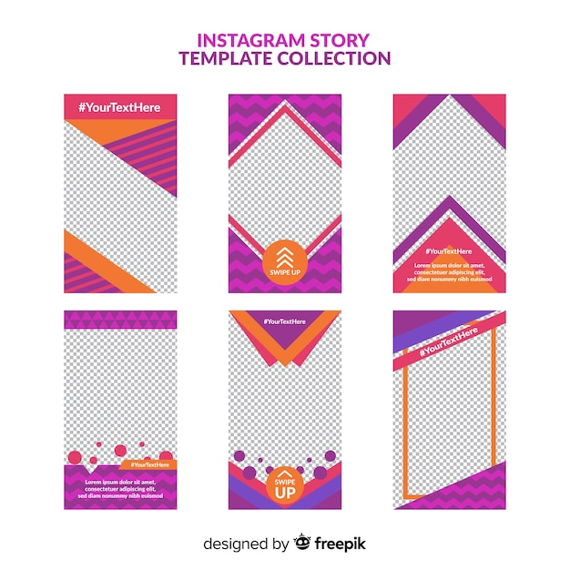 Instagram Stories Template Vector