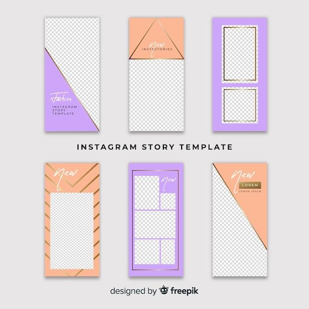Instagram 이야기 템플릿 무료 벡터