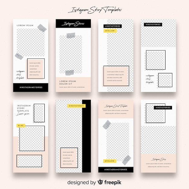 Instagram Stories Template Vector Free Download