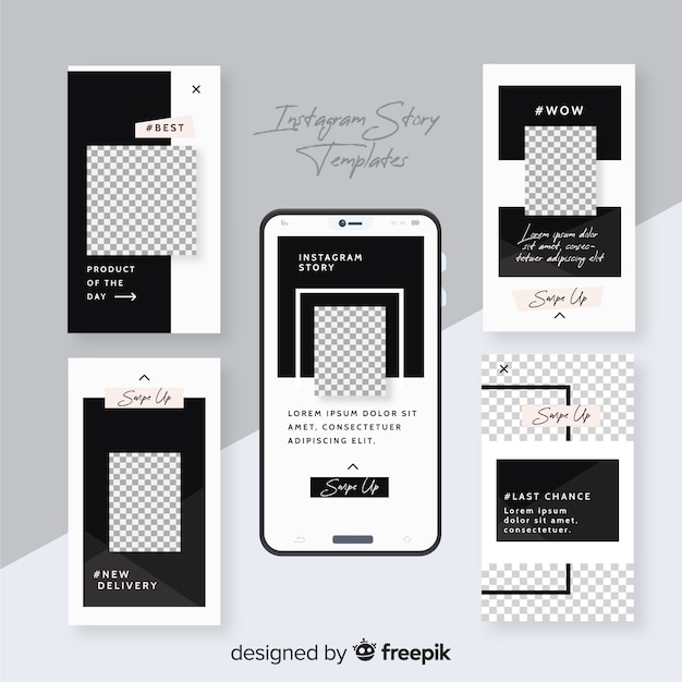 Instagram stories templates Free Vector