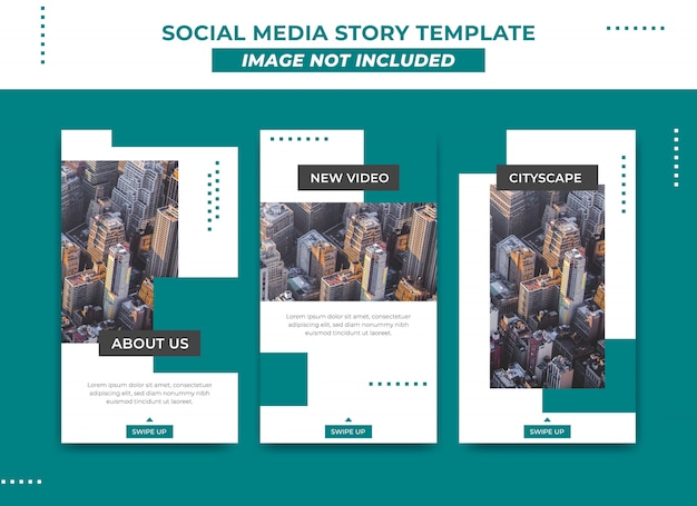 Instagram story template in modern and simple metro style Premium Vector