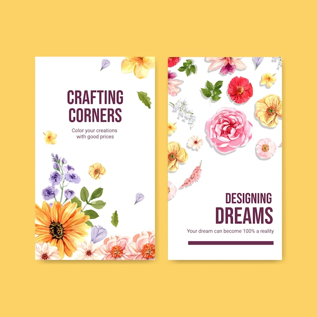 Instagram story template with summer flower concept design Free Vector