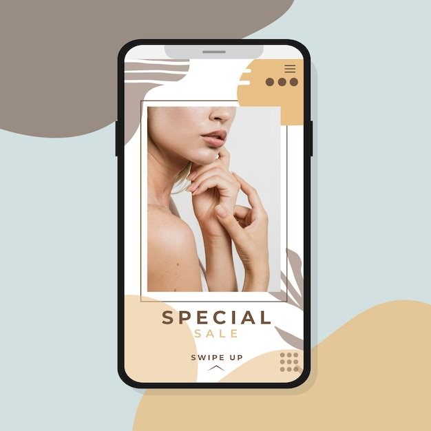 Instagram story with special sale Free Vector