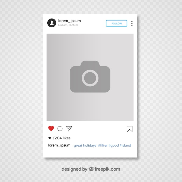 instagram template design free vector