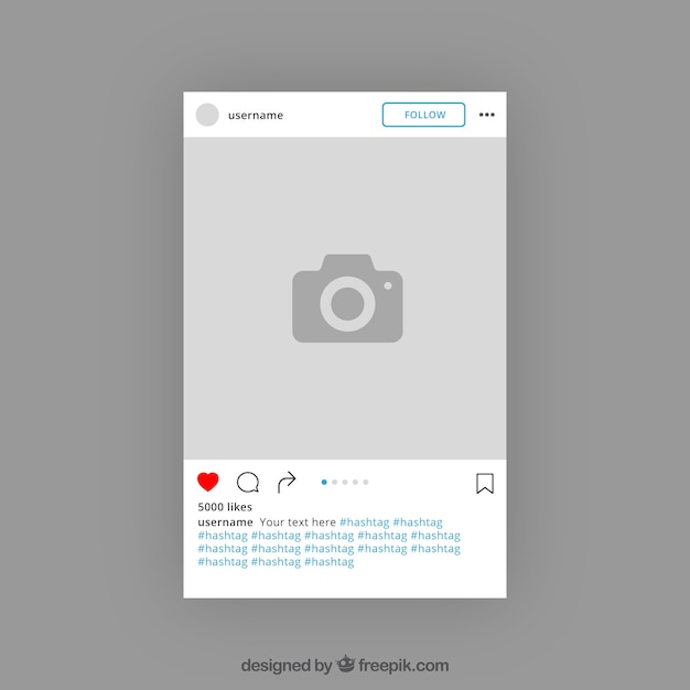Instagram Template Design Vector Free Download