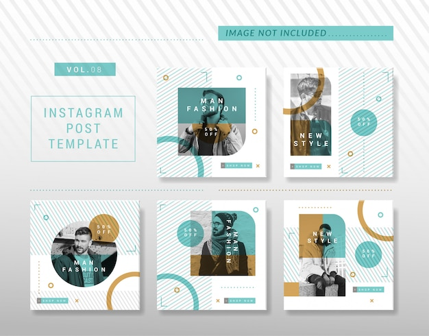 ミニマリストのinstagramまたはソーシャルメディアの投稿デザイン Premiumベクター