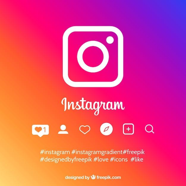 Фон instagram в градиентных цветах Бесплатные векторы