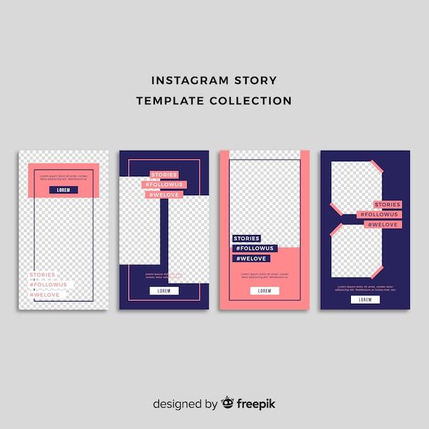 Instagramストーリーテンプレート 無料ベクター