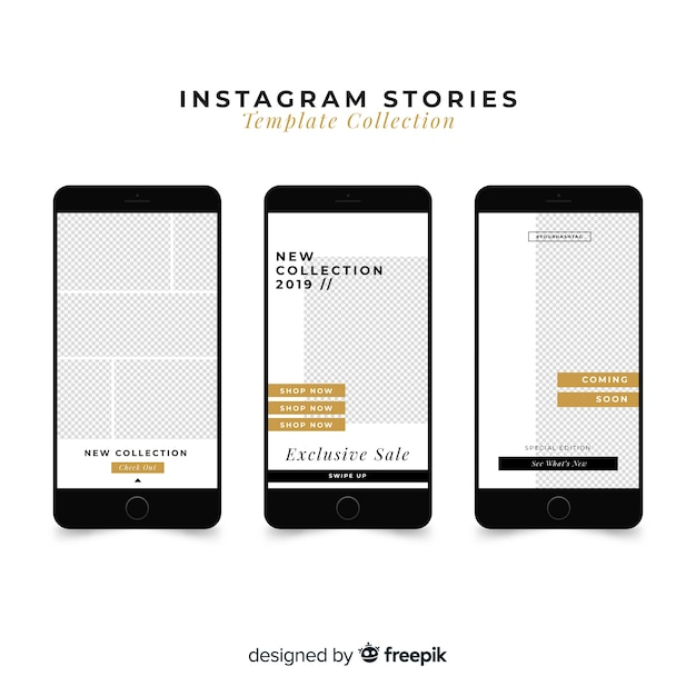 Шаблон истории из instagram Бесплатные векторы