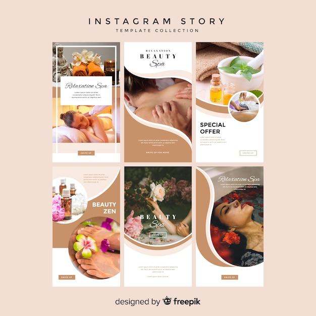 Шаблоны для instagram Бесплатные векторы